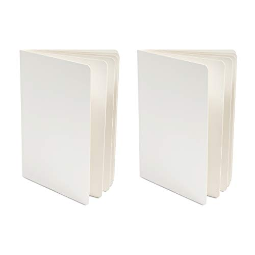 Blank Board Book for Kids, Hardcover (White, 8 x 11 In, 2 Pack)