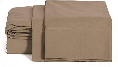 Juego de sábanas de 800 hilos, 6 piezas, incluye 2 fundas de almohada, 100% algodón de fibras largas de satén suave con bolsillo profundo queen. Paquete de 6 sábanas para cama queen, color gris pardo