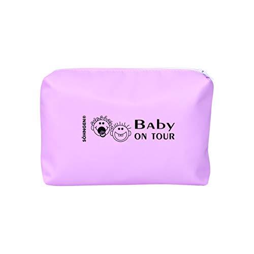 Söhngen Erste-Hilfe-Tasche Baby on Tour rosa (Reißverschlusstasche für Kleinkinder; beschichtetes Nylongewebe; robust; mit Fieberthermometer; Schnuller; Verbandmaterial; Beißring) 0350007r