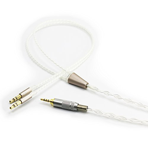 Cable simétrico TRRS de 2,5 mm a conector dual de 3,5 mm...