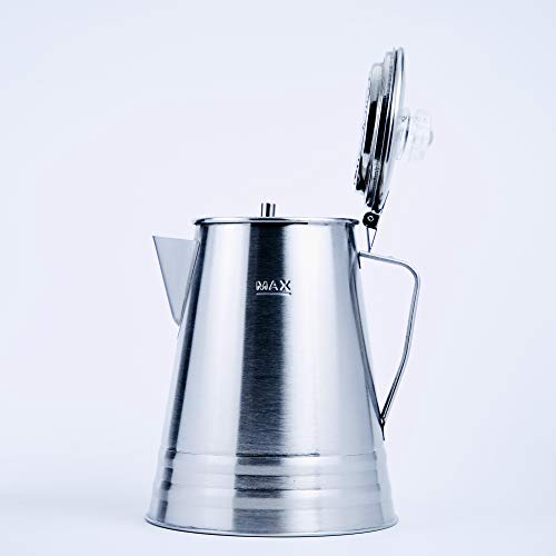 Oregon Trail - 10 Cup Stainless Steel Percolator - Camping Coffee Pot