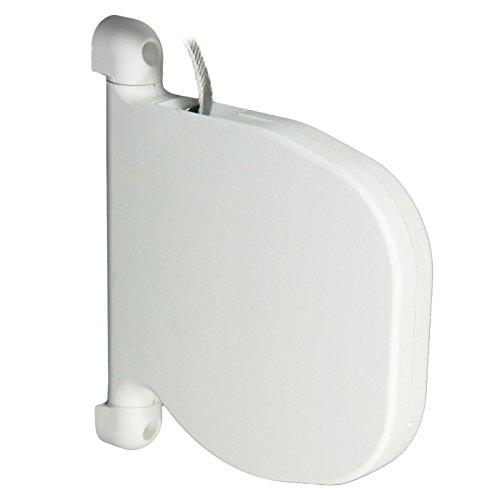 Rolladen Mini Gurtwickler weiß mit 5,3 meter Gurt Aufputz ROLATEC mit 14 mm Gurtband