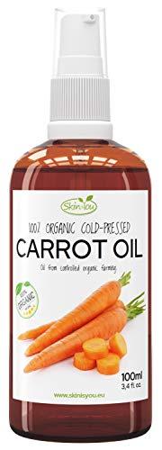 Karottenöl 100% Bio Kaltgepresst 100ml | Sichtbare, schöne Bräune | Leicht zu verteilen |...