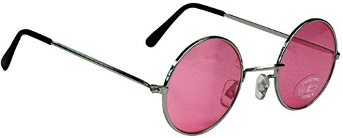 Party Pro 871116 Hippie-Gläser, mehrfarbig, Rosa