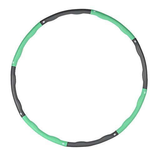 Hula-Hoop gewichtete Übung Hula-Hoop für Erwachsene Kinder einstellbar 8 abnehmbare Abschnitte Gewichtsverlust Fitness Hula-Hoop für Übung Workout Tanzen,Green