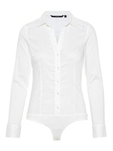 Vero Moda VMLADY L/S G-String Shirt Noos Blusas, Blanco Nieve, XL para Mujer