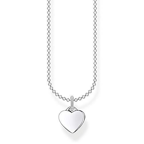 Thomas Sabo Damen Halskette Herz silber 925 Sterlingsilber, 38-45 cm Länge