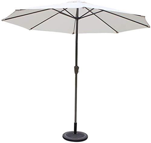 SHANCL Garden Parasol Sombrillas Proteger al Aire Libre 9', Redondas, Mercado/Jardín/Sombrilla, UV70 +, Paraguas al Aire Libre for el balcón Mesa de la terraza Cubierta o el Patio (Color : Offwhite)