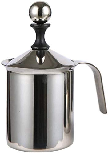 Smontalatte manuali, montalatte a doppia rete in acciaio inox, pompa a mano per caffè/latte/espresso, montalatte palmare, brocche per cappuccioni e latte