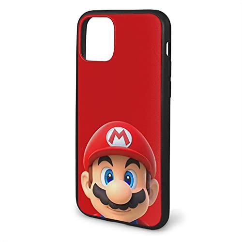 Carcasa blanda para iPhone 11 Pro Max-6.5, diseño de Super Game Mario, color negro