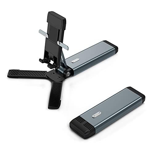 Memea Soporte plegable para teléfono móvil, portátil, ajustable, antideslizante, para casa y al aire libre