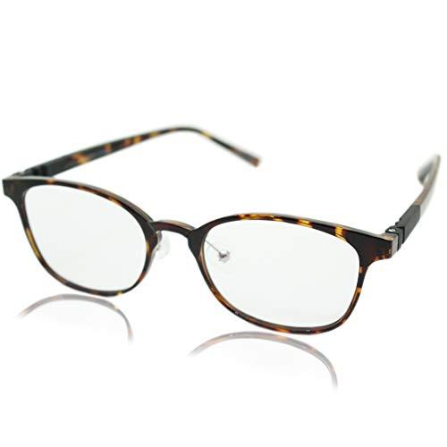 (エイトトウキョウ)eight tokyo 老眼鏡 ブルーライトカット おしゃれ メンズ レディース 兼用 軽量 かわいい かっこいい 2.5 UVカット シニアグラス リーディンググラス[ 鯖江メーカー企画 ]べっ甲/クリア RDCL8-3-BR+2.5