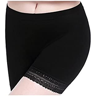 CnlanRow Womens Under Dress Lace Shorts Plus Size Summer Soft Thin Stretch Safety Pants:Iracematravel