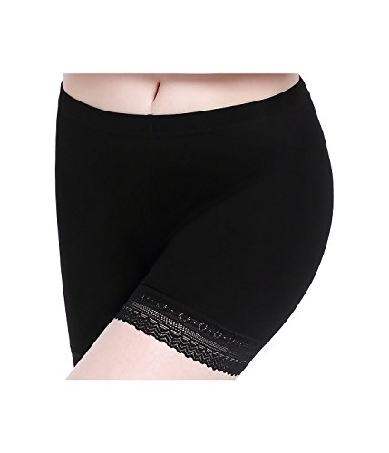 Anti Chafing Short Leggings for Women Lace Trim Slip Shorts Safety Pants Yoga