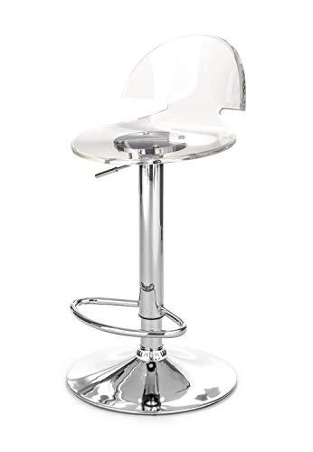 Wink design Aurora Set Due Sgabelli Bar, Metacrilato, Trasparente