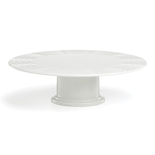 Lenox Entertain 365 Sculpture Cake Plate, White