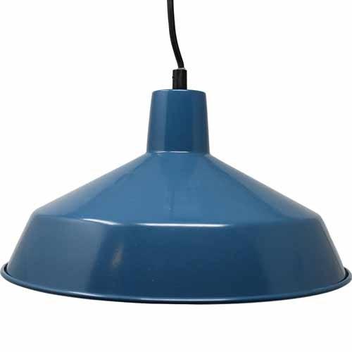 "12"" Diameter Commercial Grade Vintage Barn Style Hanging Pendant (Blue)"