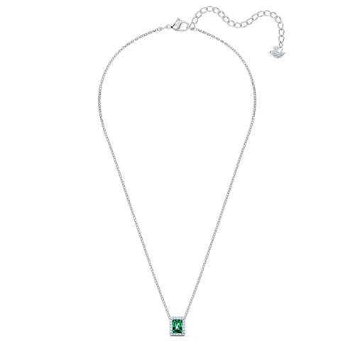 Swarovski Women's Angelic Necklace, Brilliant White and Green Crystals with Elegant Rhodium Plated Metal, from the Swarovski Angelic Collection