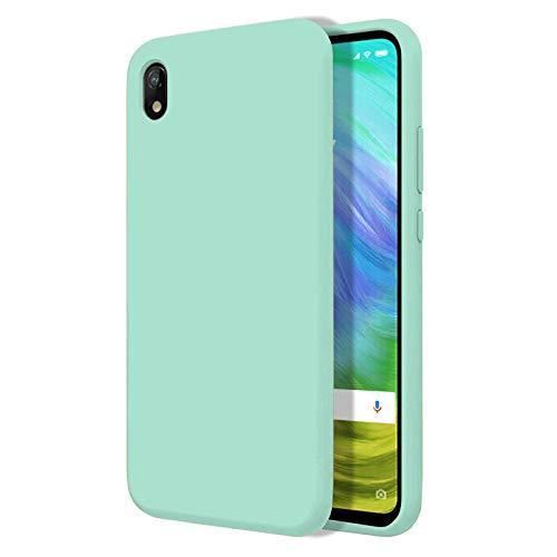 """TBOC Funda para Xiaomi Redmi 7A [5.45""""]- Carcasa Rígida [Turquesa] Silicona Líquida Premium [Tacto Suave] Forro Interior Microfibra [Protege la Cámara] Antideslizante Resistente Suciedad Arañazos"""