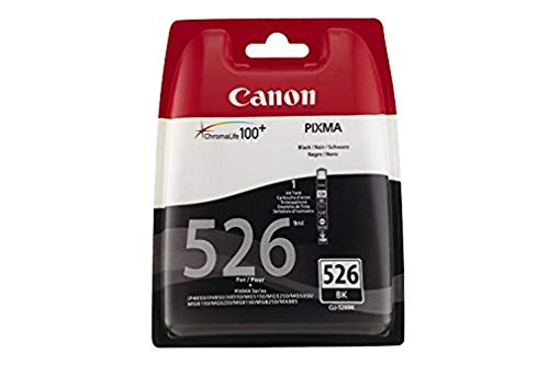 Canon CLI-526 BK BL W/O SEC Cartouches séparées pour Imprimante jet d'encre iP4850/MG5150/5250/6150/8150 Noir