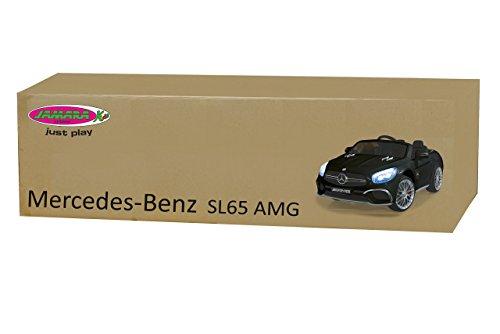 RC Auto kaufen Kinderauto Bild 2: Jamara 460295 Ride-on Mercedes SL65 schwarz 12V-Softanlauf, 2-Gang, Stoßdämpfer, SD-Slot, AUX-und USB-Anschluss, LED, Hupe,bis zu 90 Min. Fahrzeit,Ultra-Gripp Gummiring*