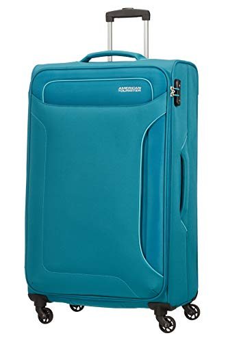 American Tourister Holiday Heat - Spinner Suitcase, 79.5 cm, 108 Litre, Green (Petrol Green)