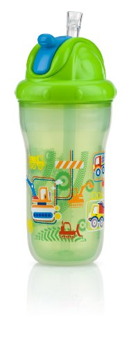 Nuby Insulated Flip-It Straw Active Sipeez 270ml (Green)