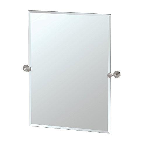 Gatco Latitude II Rectangle Mirror,, Satin Nickel, 31.5 Inch, Frameless -