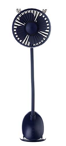 GFF Ventilador de Escritorio USB, Ventilador de enfriamiento de Clip, Ajustable en Tres velocidades, rotación de 360 °, Adecuado para el hogar, la Oficina, el Uso...