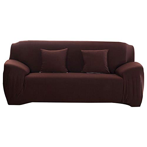 HXTSWGS Protectoras de Muebles,Elastic Sofa Cover, All-Inclusive Sofa Covers For, Living Room Couch Cover Chair Cases,Furniture Protective Cover-Coffee_235-300cm