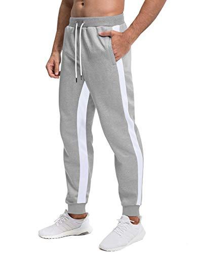 MAGCOMSEN Pantalon Sportif d'homme Léger Pantalon en Polyester Pantalonde Randonnée De Jogging Décontracté Pantalon avec Poche sur Côté Casual Pantalon Été