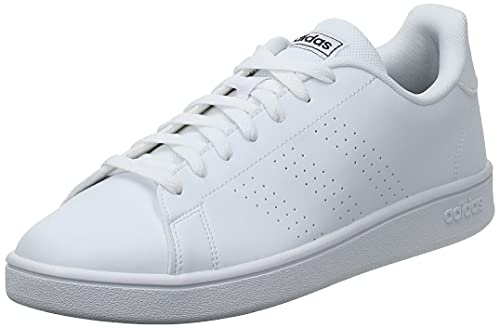 adidas Advantage Base, Scarpe da Tennis Uomo, Ftwr White/Ftwr White/Trace Blue F17, 44 EU