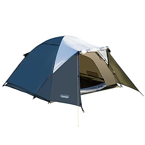 テント 2-4人用 Vansupa テント 2人用 前室あり キャンプ テント テントワンタッチ コンパクト アウトドア用テント テント 3人用 前室付き 軽量簡易 てんと uvカット紫外線防止防風防水 ソロテント