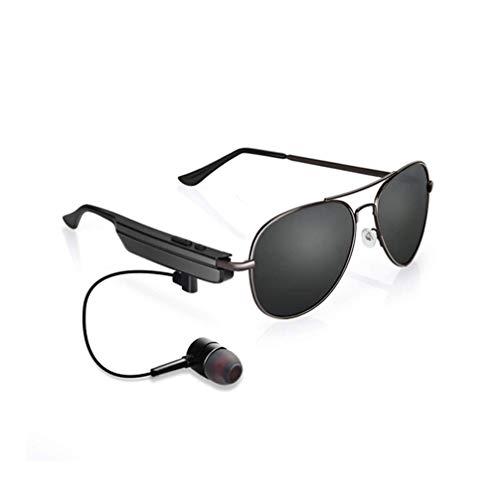 SMSOM Gafas de Sol Bluetooth, Gafas de Sol para Escuchar música y Hacer Llamadas telefónicas, Resistencia al Agua y protección Completa de Lentes UV y compatibles con Todos los teléfonos Inteligentes