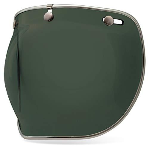 BELL Custom 500 3-Snap Bubble Deluxe Casco Sield/Visiera - Verde Wayfarer