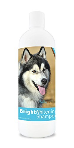 Healthy Breeds Dog Shampoo For White Dogs For Siberian Husky - For White, Lighter Fur – Over 150 Breeds – 12 Oz - With Oatmeal For Dry, Itchy, Sensitive, Skin – Moisturizes, Nourishes Coat