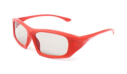1 Pair of Red Passive 3D Glasses Universal for all Passive 3d TV Cinema and...