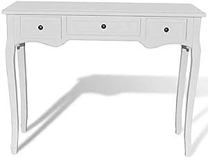 Tavolo Consolle con 3 Cassetti - Oakome vidaXL Dressing Console Table 100 x 35 x 78 cm