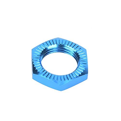 Kuuleyn Tuercas de Rueda M12, bujes hexagonales de Rueda de Aluminio Reemplazo de Tuerca adaptadora de neumáticos para Accesorio de Coche RC 1/8(Azul)