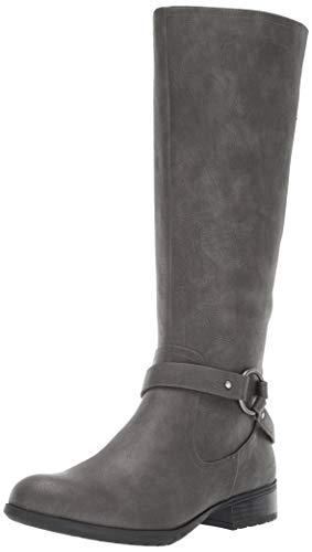 LifeStride Women's X-Felicity Low Heel Tall Shaft Boot Knee High, Dark Grey, 7 W US