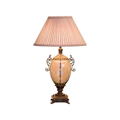 Jbshop Tisch- & Nachttischlampen Antike Kristall Tischlampe, exquisiter weißer Lampenschirm, High-End-Atmosphäre Leselampe Schreibtischlampe