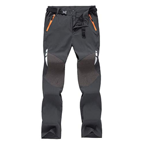 Pantalones de Trekking Hombre, Pantalon Trekking Caliente Pantalones Invierno Pantalones Impermeables de Secado Rápido al Aire Libre Senderismo Pantalones de Escalada de Esquí Táctico ✿Hanyixue