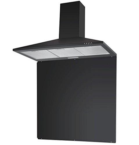 Hood Pack - Unbranded Cookology 90cm Chimney Cooker Hood & Splashback in Black