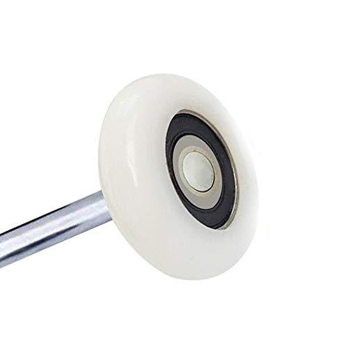 Surpass 2'' Ultra-Quiet Nylon Garage Door Rollers, 6200-2RS Double Seals Bearing and 4'' stem (10 Pack)