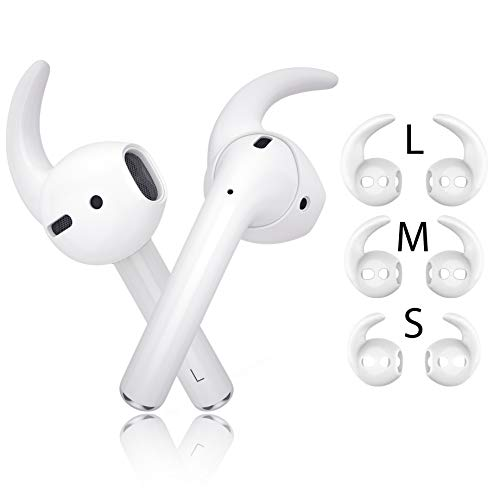 innoGadgets EarPlugs X   Aufsatz kompatibel mit AirPods und EarPods   Fester Halt für Sport und Freizeit - mit 3 verschiedenen Größen [S/M/L]   [Kopfhörer Nicht enthalten] Weiß