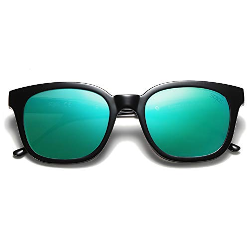 SOJOS Classic Square Polarized Sunglasses Unisex UV400 Mirrored Glasses SJ2050 covid 19 (Frame Womens Sunglasses coronavirus)