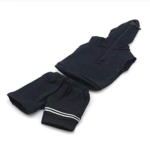 Kleidungsmodell 1/6 Maßstab Soldaten-Zubehör, ärmellos, Weste, Pullover, mit Kapuze, Shorts, Sportanzug, für 30,5 cm große Actionfiguren