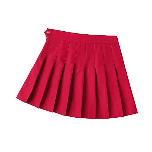 Falda plisada de las mujeres de cintura alta mini falda femenina estilo preppy