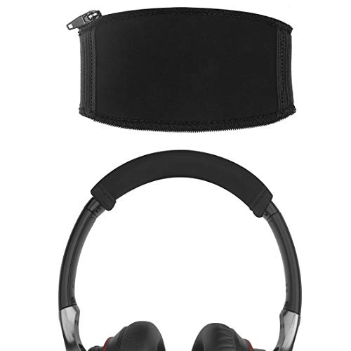 Geekria Replacement Headband Cover for Sony MDR10RBT, MDR10RNC, MDR10R, Hesh 3, Crusher Headphones/Headband Protector Repair Parts/Easy DIY Installation No Tool Needed (Black)