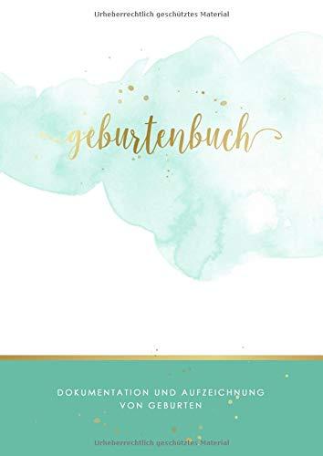 Geburtenbuch • Dokumentation und Aufzeichnung von Geburten: Ausführliches Dokumentations- und Auszeichnungsbuch für Hebammen • Din A4 Format • mehr als 75 Aufzeichnungsvorlagen zum Ausfüllen